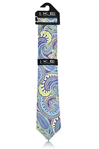 Ike Behar Boys 52'' Purple And Green Pasley Tie by Ike Behar (Image #2)
