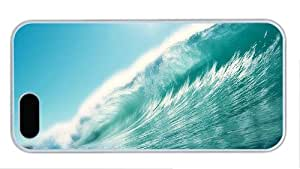 Fashion shop iphone 5 case Sea wave water PC White for Apple iPhone 5/5S