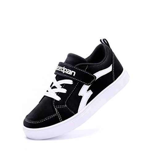 Andar Zapatillas Negro Con Para Calzado Casuales Zapatos Velcro  Antideslizante Dexuntong Sneakers Deporte De Infantil Niños wCHZvvq54 7e06b09d35475
