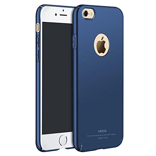 Bleu PC Plastique Coque Etui Housse Case et Protecteur écran Pour Apple iPhone 7 MSVII® JY00003