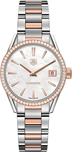 TAG Heuer Women's 'Carrera' Swiss Quartz Stainless Steel and Gold Dress Watch (Model: ()