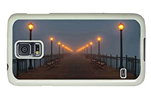 Hipster Samsung Galaxy S5 Cases free shipping Pier at Night PC White for Samsung S5