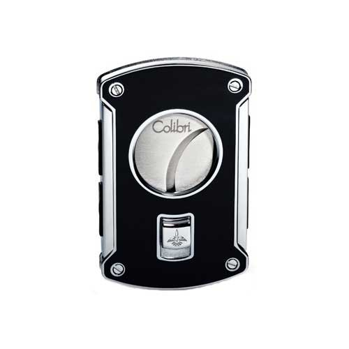 Colibri Cigar Cutter Slyce 64 Gauge Spring Loaded Black Lacq