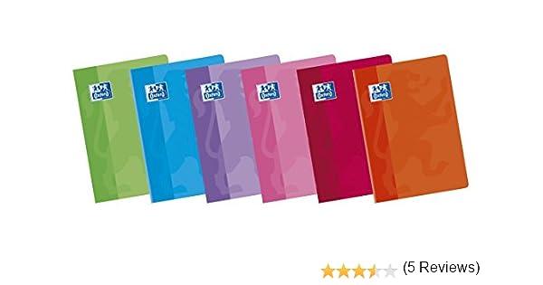 Oxford 736661 - Libreta grapada tapa blanda. 48 hojas, A4, milimetrado con margen, paquete de 10, color surtido: Amazon.es: Oficina y papelería