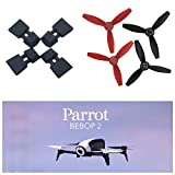 Sodoop Extended Landing Gear Shock Extension Tripod £«Upgrade Rotor Composites Propellers Props Carbon Fiber (2cw + 2ccw) for Parrot Bebop 2 4.0 RC Drone Quadcopter