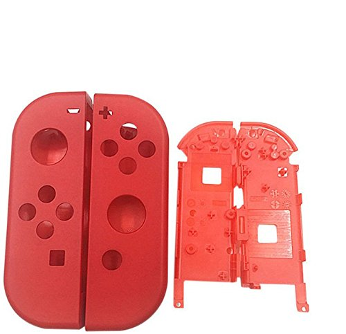 Full Housing Faceplate Handle Shells Case Cover with Battery Middle Frame Shell Plate for Nintendo Switch Controller Joy-Con Faceplate Mario - Housing Faceplate Frame