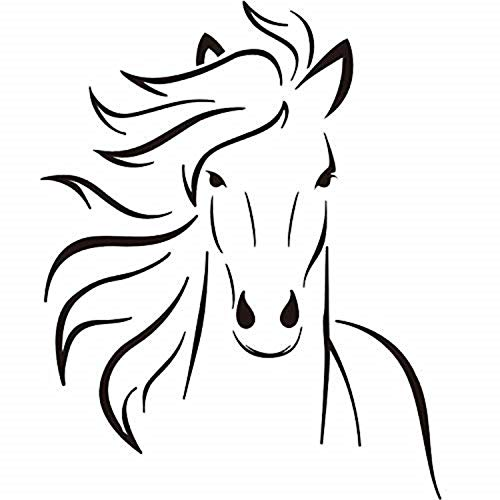 - Boodecal Mustang Horse Silhouette Wall Decal Mural Decor For Bedroom Kids Room Playroom 22*27 Inches