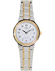 Casio LTP1131G-7B Womens Two Tone Easy Reader Metal Fashion Analog Watch
