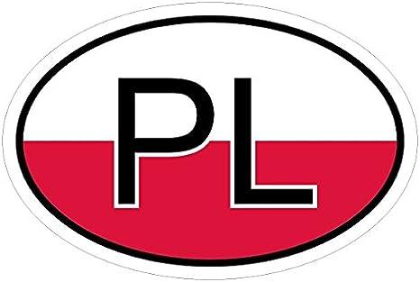 Kiwistar Polen Pl In Zwei Größen Mehrfarbig Autoaufkleber Aufkleber Kfz Flagge Auto