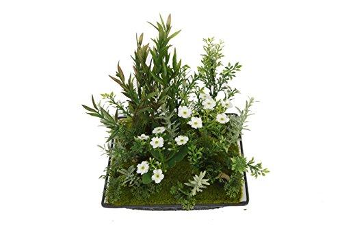 Flora Bunda Y006 Square Metal Plate Greenery, Large(6pcs,Green)