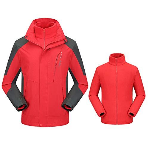 Red In Antivento Arrampicata Caldo Pile Casual Impermeabile Da 1 Sportiva Trekking Cappuccio Uomo Con Liuyl 3 Giacca Softshell Giacche wUqO0t