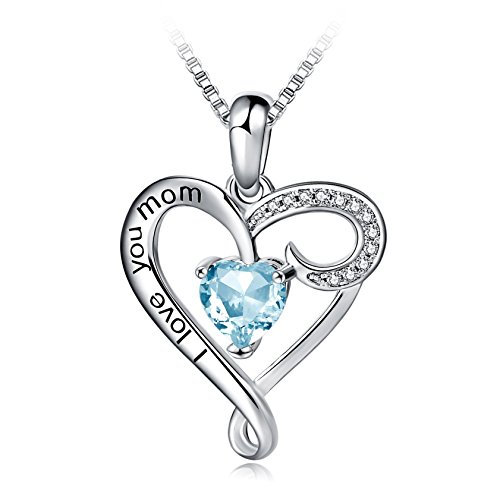 Mothers Birthday Sterling Pendant Necklace