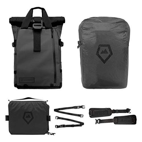 PRVKE Travel and DSLR Camera Backpack with Laptop/Tablet Sleeve and Rain Cover. Rugged Photography Bag. (31L, Black)