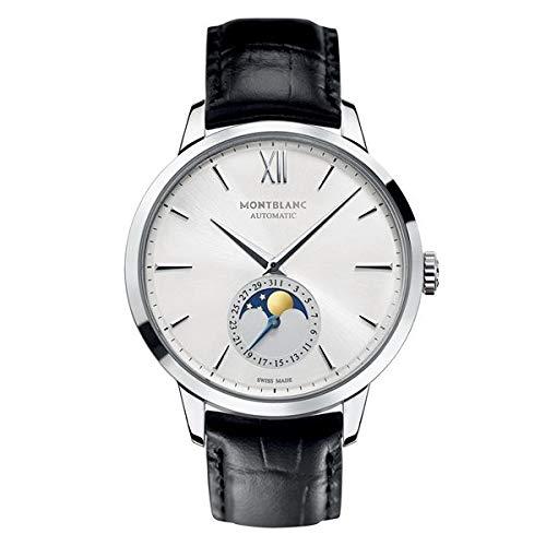 Montblanc Reloj Analógico para Hombre de Cuarzo con Correa en Cuero 110699