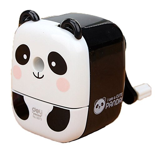 InnoDesktop Super Cute Cartoon Chinese Panda Manual Rotary Pencil Sharpener, Best Pencil Sharpener for Kids and School, Lovely Panda