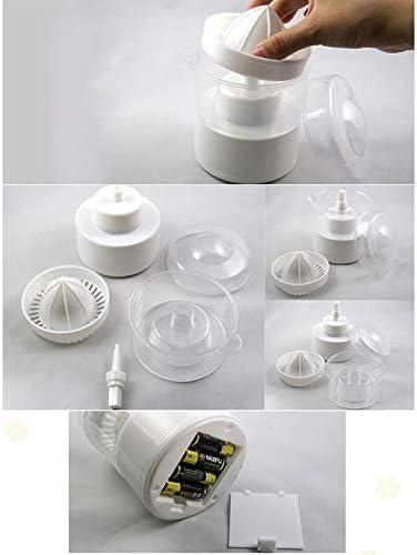 Fancysweety Exprimidor casero HQS-F006, exprimidor de sandía, Naranja, limón, Uvas, Mini exprimidor eléctrico portátil para el hogar, Blanco
