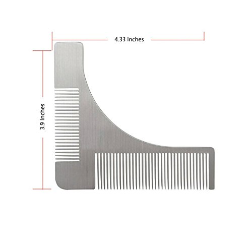 beard shaping tool kit kesouli 3 in 1 beard shaping template comb designed for various beard. Black Bedroom Furniture Sets. Home Design Ideas