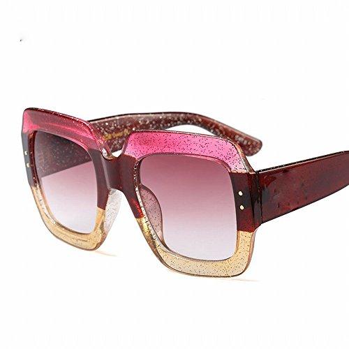 LMB Qualität Mode Tricolor Sonnenbrille Luxus Flut Coole Sonnenbrille,EIN,Der gesamte Code