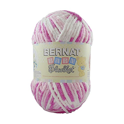 Bernat  Baby Blanket Yarn - (6) Super Bulky Gauge  - 10.5 oz -  Pink Dreams  - Single Ball  Machine Wash & Dry - Bernat Pink Knitting Yarn