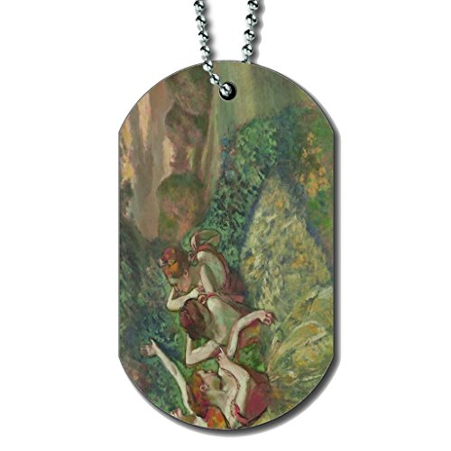 (Edgar Degas Four Dancers - Dog Tag Necklace)