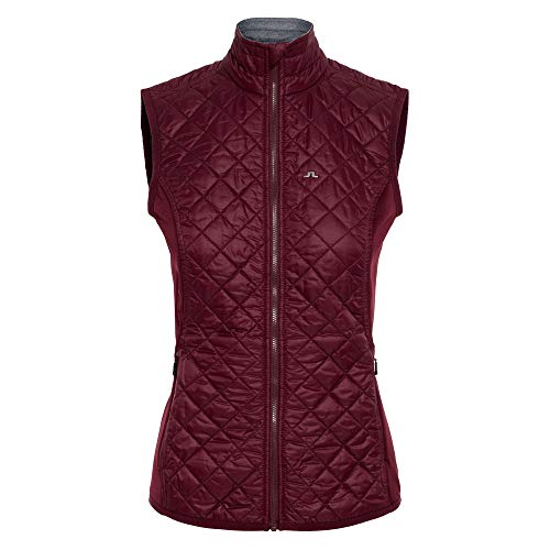 J Golf Lindeberg Vest - J.Lindeberg Atna Hybrid Pertex Golf Vest 2018 Women Dark Mahogany Medium