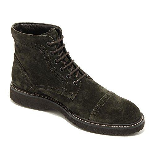 4391G polacchino anfibio uomo verde HOGAN route bucature scarpa uomo boots shoes Verde