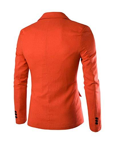 Outwear Arancia Slim Uomo Leisure Da Suit Giacca Classiche Bottone 1 Ragazzi Fit Sportiva Autunno Giacche Elegante ZRaqH