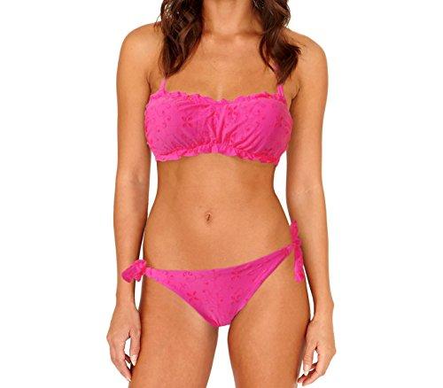 con motivi trama Flavor fascia floreale Costume bikini mws 44 a intagliati Fucsia mod SqA4Zw1