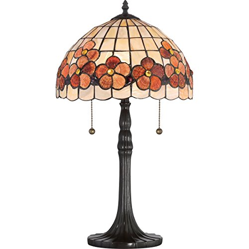 Quoizel SSCV6222VB Two Light Table Lamp, Small, Vintage Bronze ()
