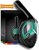 Doris Snorkel Mask Full Face for Adults and Youth Kids Anti-Fog and Anti-Leak 180 Panoramic View GoPro Compatible...