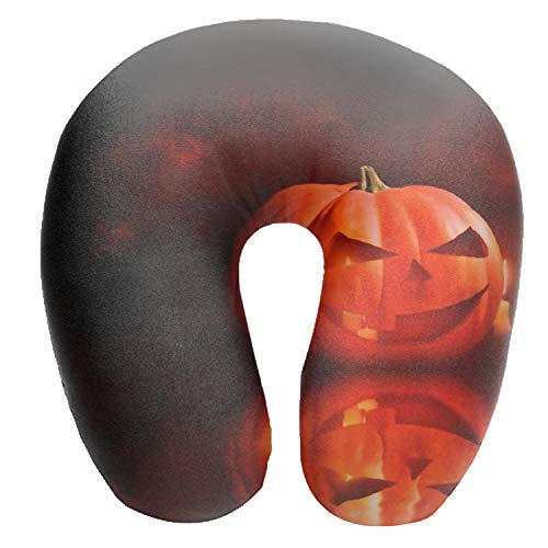 Dominic Philemon Halloween Animated Travel Pillow, Compact Travel Neck Pillow Support Head and Neck -