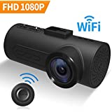 HaloCam C1 Car Dash Cam FHD 1080P Car Video Recorder Built-in WiFi Dashboard Camera Sony IMX323 Exmor CMOS G-Sensor Super Clear Vision Loop Recording