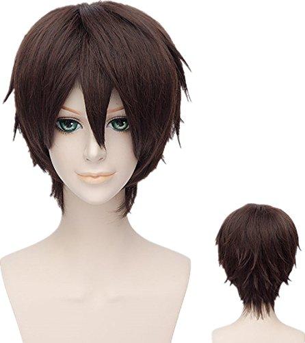 [New Japan Anime Hakuouki Okita Souji Brown Cosplay Costume Wig] (Okita Souji Cosplay Costume)
