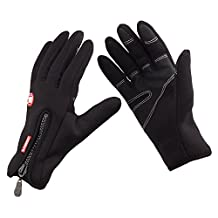 LuckyStone Adults Unisex Windproof Outdoor Ski Cycling Warmth Cold Weather Gloves