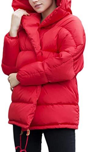 Women Outdoors Puffer Thick Down Loose Hooded Red Coats Winter EKU Jacket wRPFqSxaP