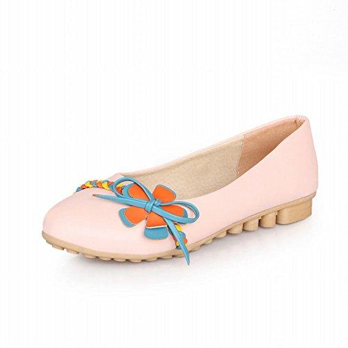Carol Chaussures Doux Confort Des Femmes Assorties Couleurs Tresse Applique Mignon Décontracté Appartements Chaussures Rose