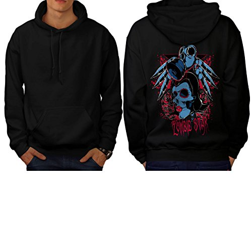 Evil Zombie Star Rise Nightmare Men XXXL Hoodie Back | Wellcoda (Love Bite Vampire Costume)