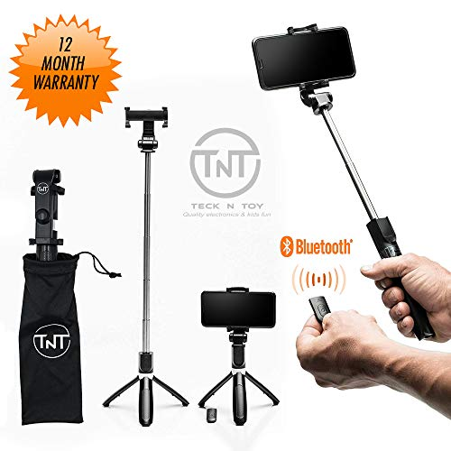 Extendable Selfie Bluetooth Remote Tripod product image