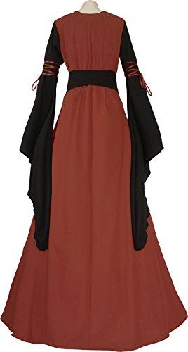Ziegelrot Damen Hedwig Mittelalterkleid schwarz Dornbluth RqPYYwd