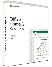 Microsoft Office Home & Business 2019 | one-time purchase | 1 PC (Windows 10) or Mac | home&/or commercial use | box
