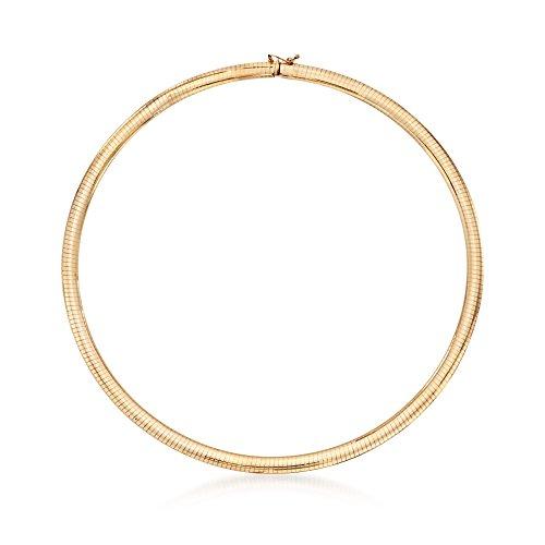 Ross-Simons Italian 6mm 14kt Yellow Gold Omega Necklace ()
