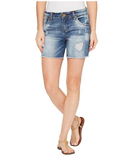 不満デザートリーク[カット フロムザクロス] KUT from the Kloth レディース Gidget Frayed Shorts in Constructive パンツ [並行輸入品]
