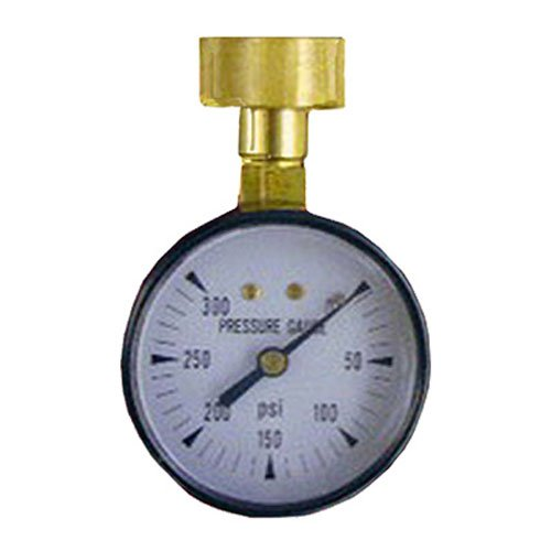 LASCO 13-1901 Metal Water Test Gauge 300 PSI with Adapter to Hose Thread