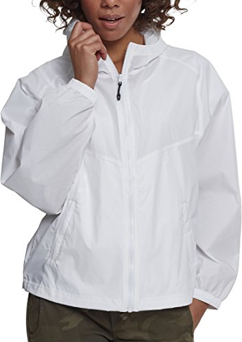 Urban white Ladies Donna Bianco Oversize 00220 Windbreaker Classics Cappotto rp5qArw