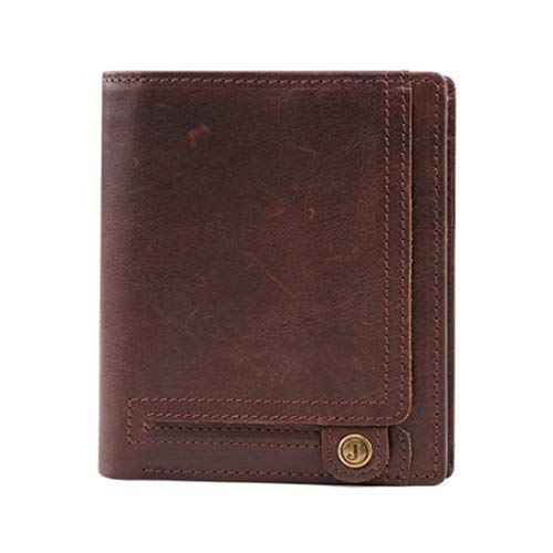 erffdf Wallet 2019 Unisex Wallet Short Coin Purse Cow Leather Card Case Credit Business Card Holders Short Wallets -in Card & ID Holders,Chocolate