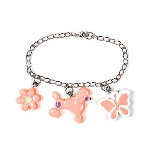Pink Poodle Charm Bracelets (8 count) Party Accessory