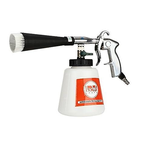 LAOYE Pistola Tornador de Limpieza Aire Comprimido de Espuma para Limpiar Suciedad Incrustada y Profunda de Interior de Coche Tapicería Restaurante y otros ...