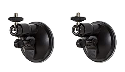 Smart Security Suction Cup Wall Mount - Adjustable Indoor/Outdoor Suction Cup Mount Compatible With Arlo Cam and Other Compatible Models - by Wasserstein (2 Pack)