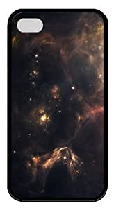 Outer Space Nebulae TPU Case Cover Protector Compatible with iPhone 4/4S Black