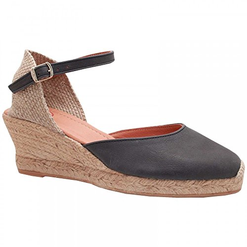 Toni Pons Ankle Strap Espadrille Wedge Sandal Navy